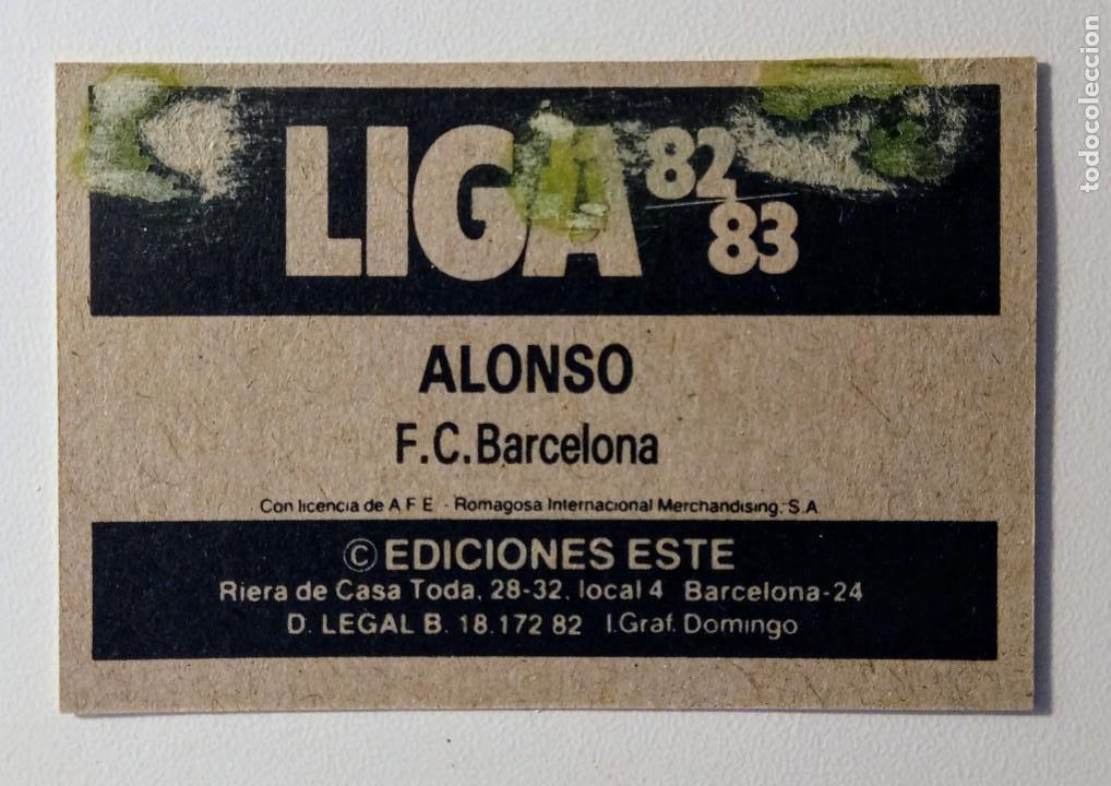 Cromos de Fútbol: ALONSO BARCELONA FCB cromos ESTE 82 83 dificil 1982 1983 no cropan - Foto 2 - 215727016