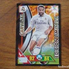 Cromos de Fútbol: ADRENALYN XL 2016 2017 PANINI CARVAJAL (REAL MADRID) EDICION LIMITADA - CROMO LIGA 16 17. Lote 215795766