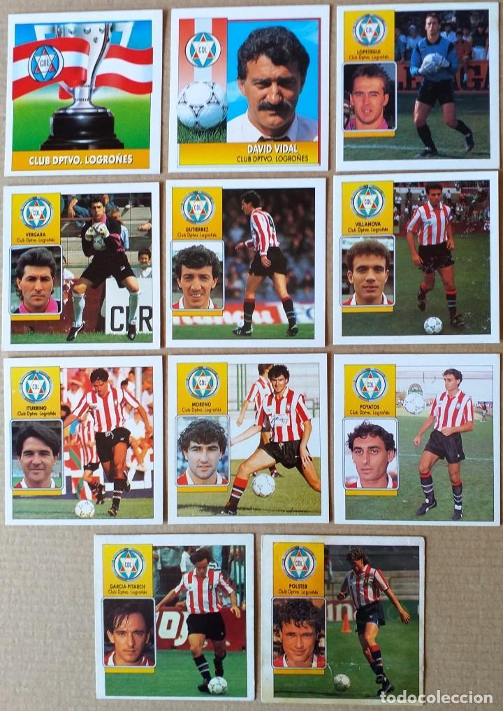 ESTE - LIGA 92/93 - 1992 1993 - LOTE 11 CROMOS C.D. LOGROÑES - DESPEGADOS (Coleccionismo Deportivo - Álbumes y Cromos de Deportes - Cromos de Fútbol)