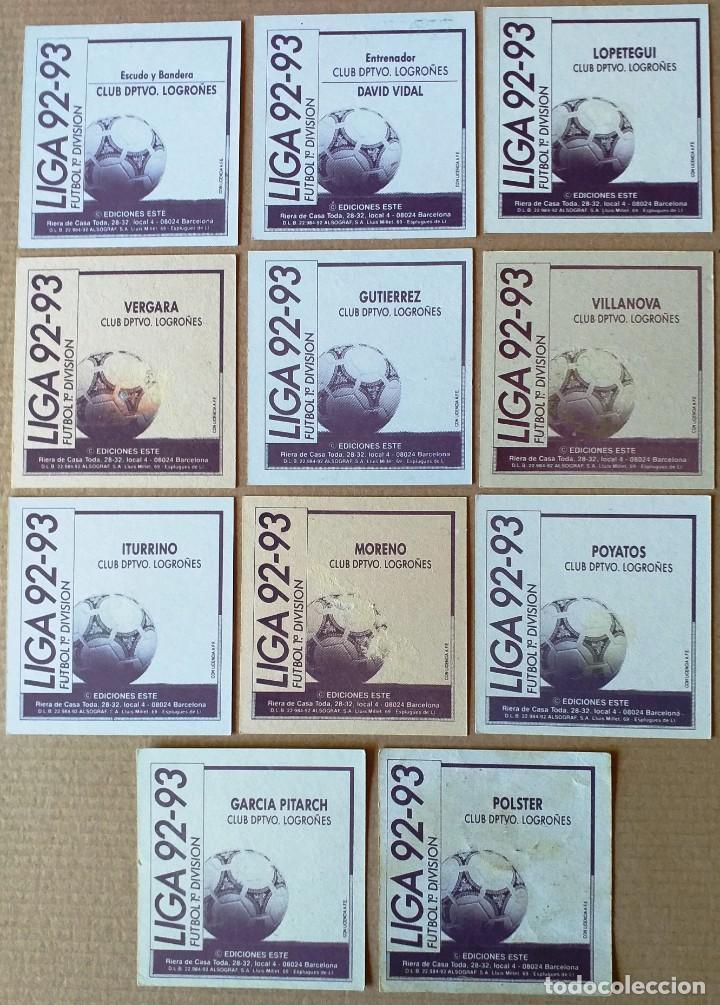 Cromos de Fútbol: ESTE - LIGA 92/93 - 1992 1993 - LOTE 11 CROMOS C.D. LOGROÑES - DESPEGADOS - Foto 2 - 215809278