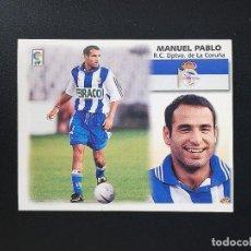 Figurine di Calcio: DEP MANUEL PABLO DEPORTIVO DE LA CORUÑA 1999 2000 99 00 ESTE SIN PEGAR NUNCA. Lote 215910866
