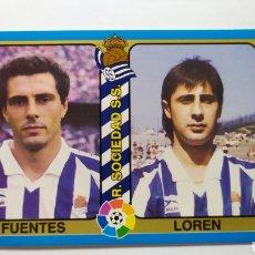 Cromos de Fútbol: FICHA N°98 FUENTES Y LOREN DE LA REAL SOCIEDAD COLECCIÓN MUNDICROMO FÚTBOL TOTAL 1995. Lote 216525408