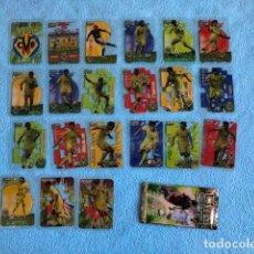 Cromos de Fútbol: EQUIPO COMPLETO VILLARREAL 21 CROMOS CRYSTALCARDS SUPERSTAR 2006 - 2007 LEER DESCRIPCION C8. Lote 217019757