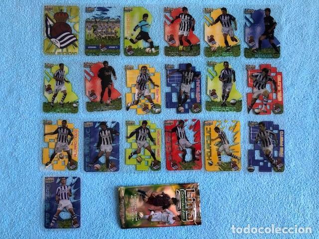 EQUIPO COMPLETO REAL SOCIEDAD 19 CROMOS CRYSTALCARDS SUPERSTAR 2006 - 2007 LEER DESCRIPCION C8 (Coleccionismo Deportivo - Álbumes y Cromos de Deportes - Cromos de Fútbol)