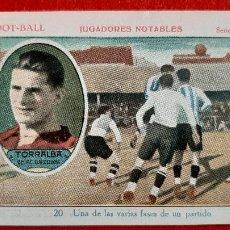 Cromos de Fútbol: CROMO FUTBOL ANTIGUO JUGADOR TORRALBA DEL BARCELONA JUGADORES NOTABLES 20 ORIGINAL CR10 R. Lote 217354040