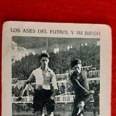 Cromos de Fútbol: CROMO FUTBOL ANTIGUO LOS ASES Y SU FUTBOL CENTRO DE PIERA ORIGINAL CR10. Lote 217356531