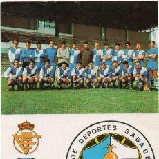 Cromos de Fútbol: SABADELL AÑOS 60, DE BERGAS INDUSTRIAS GRAFICAS. Lote 217466703