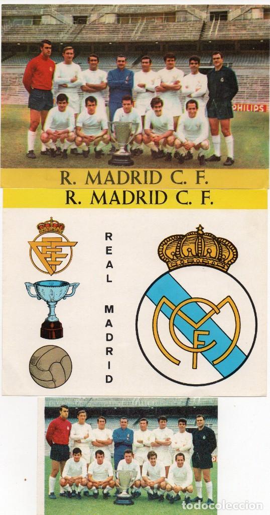 REAL MADRID, AÑOS 60, DE BERGAS INDUSTRIAS GRAFICAS, (Coleccionismo Deportivo - Álbumes y Cromos de Deportes - Cromos de Fútbol)