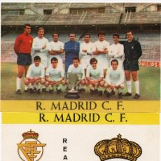 Cromos de Fútbol: REAL MADRID, AÑOS 60, DE BERGAS INDUSTRIAS GRAFICAS,. Lote 217467832
