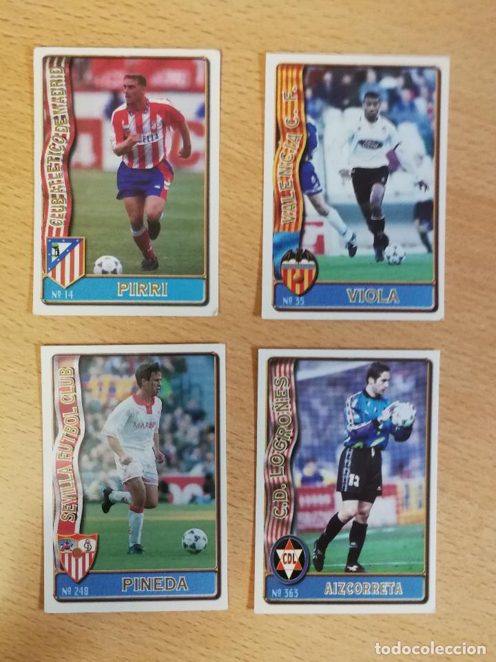 4 BAJAS FICHAS DE LA LIGA 96/97 PIRRI, VIOLA, AIZCORRETA Y PINEDA. BUEN ESTADO (Coleccionismo Deportivo - Álbumes y Cromos de Deportes - Cromos de Fútbol)