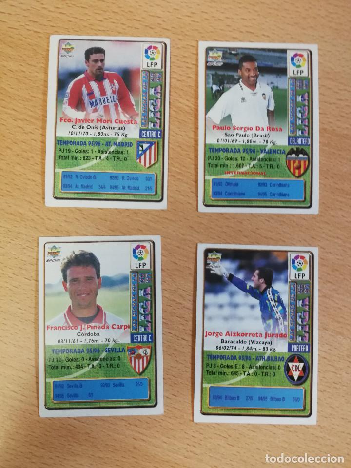 Cromos de Fútbol: 4 bajas Fichas de la Liga 96/97 Pirri, Viola, Aizcorreta y Pineda. Buen estado - Foto 2 - 217643688