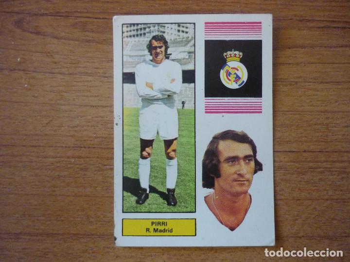 FHER 74 75 PIRRI (REAL MADRID) - CAMPEONATO LIGA 1974 1975 - CROMO FUTBOL NUNCA PEGADO (Coleccionismo Deportivo - Álbumes y Cromos de Deportes - Cromos de Fútbol)