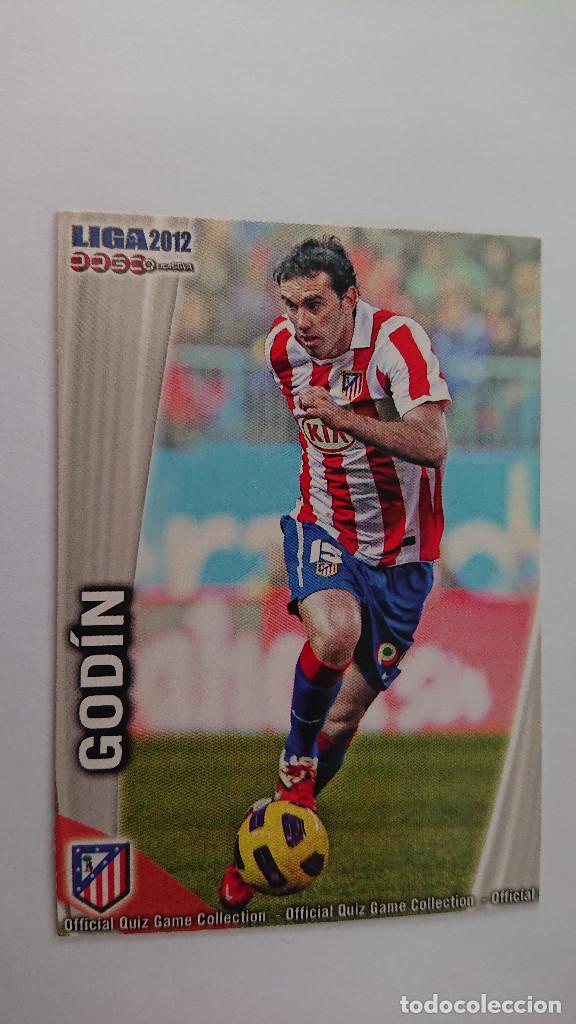 LAS FICHAS DE LA LIGA 2011 2012 AT. DE MADRID Nº 170 GODIN FICHAS LIGA 11 12 MUNDICROMO (Coleccionismo Deportivo - Álbumes y Cromos de Deportes - Cromos de Fútbol)