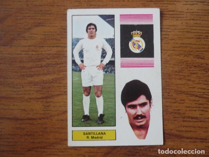 FHER 74 75 SANTILLANA (REAL MADRID) - CAMPEONATO LIGA 1974 1975 - CROMO FUTBOL NUNCA PEGADO (Coleccionismo Deportivo - Álbumes y Cromos de Deportes - Cromos de Fútbol)
