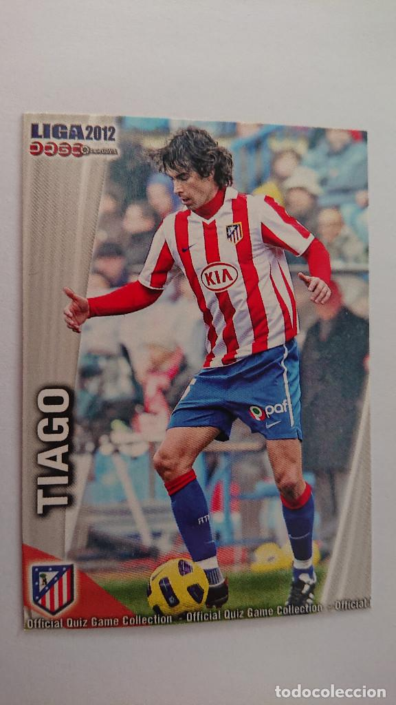 LAS FICHAS DE LA LIGA 2011 2012 AT. DE MADRID Nº 178 TIAGO FICHAS LIGA 11 12 MUNDICROMO (Coleccionismo Deportivo - Álbumes y Cromos de Deportes - Cromos de Fútbol)