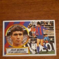 Cromos de Fútbol: N°13 JULIO SALINAS (BARCELONA) LIGA 88-89 ESTE. NUNCA PEGADO, NUEVO. Lote 217953006