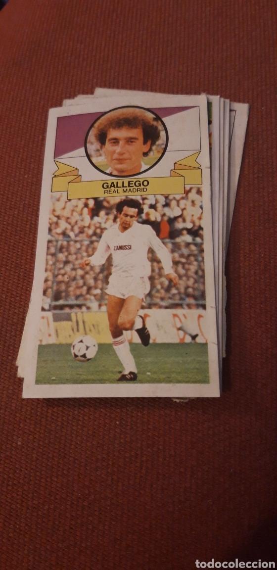 GALLEGO REAL MADRID ESTE 85 86 1985 1986 DESPEGADO (Coleccionismo Deportivo - Álbumes y Cromos de Deportes - Cromos de Fútbol)