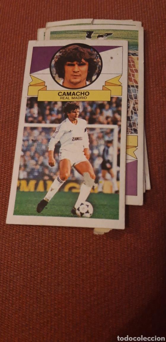 CAMACHO REAL MADRID ESTE 85 86 1985 1986 DESPEGADO (Coleccionismo Deportivo - Álbumes y Cromos de Deportes - Cromos de Fútbol)