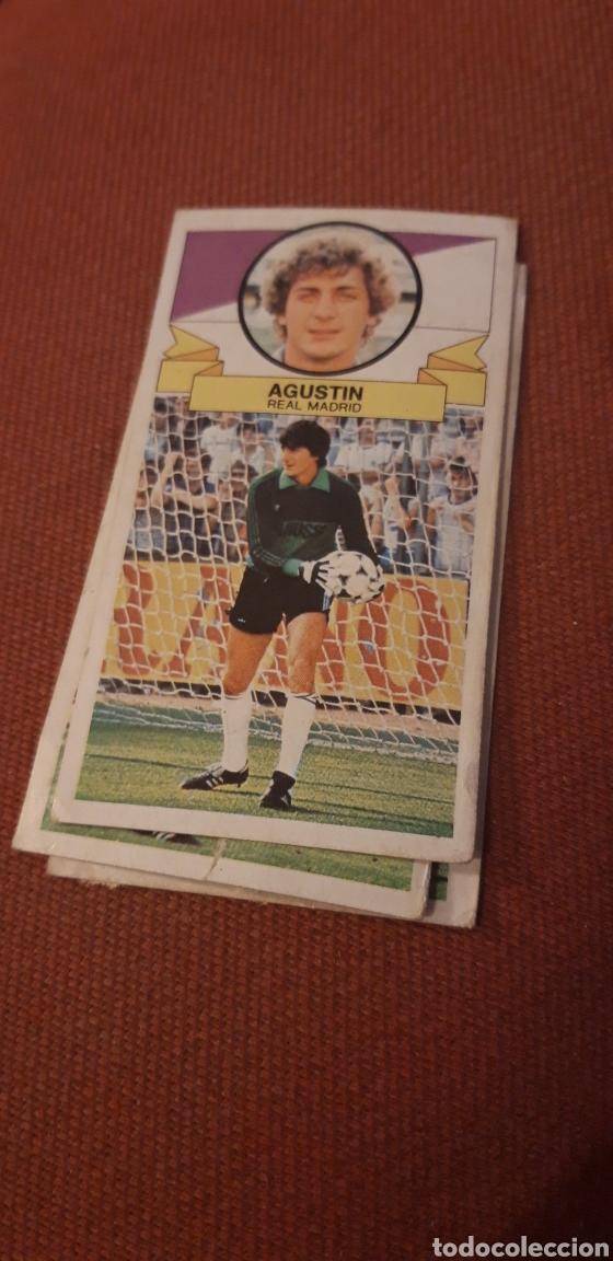 AGUSTÍN REAL MADRID ESTE 85 86 1985 1986 DESPEGADO (Coleccionismo Deportivo - Álbumes y Cromos de Deportes - Cromos de Fútbol)
