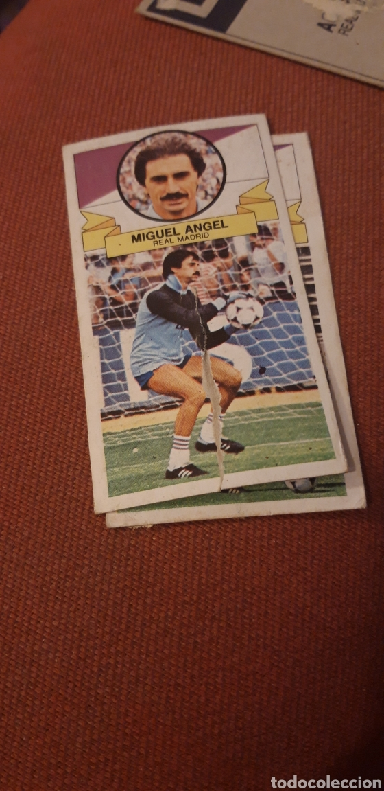 MIGUEL ANGEL REAL MADRID ESTE 85 86 1985 1986 DESPEGADO (Coleccionismo Deportivo - Álbumes y Cromos de Deportes - Cromos de Fútbol)