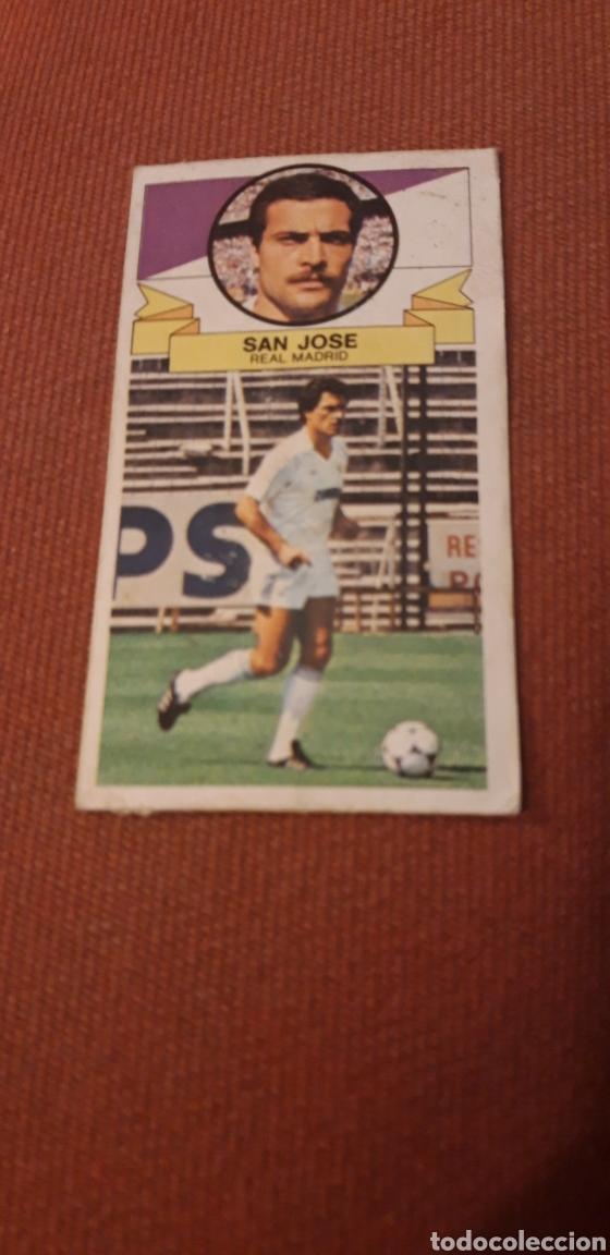 SAN JOSE REAL MADRID ESTE 85 86 1985 1986 DESPEGADO (Coleccionismo Deportivo - Álbumes y Cromos de Deportes - Cromos de Fútbol)
