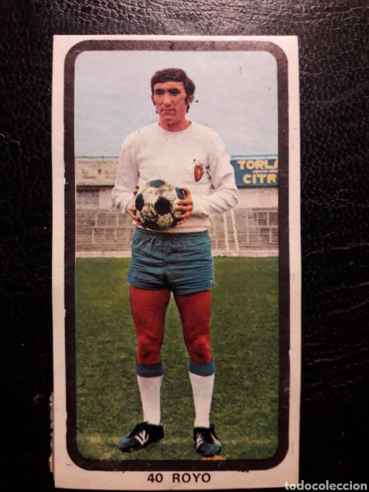 ROYO ZARAGOZA N° 40 RUIZ ROMERO 74 75 1974 1975. DESPEGADO. VER FOTOS DE FRONTAL Y TRASERA (Coleccionismo Deportivo - Álbumes y Cromos de Deportes - Cromos de Fútbol)