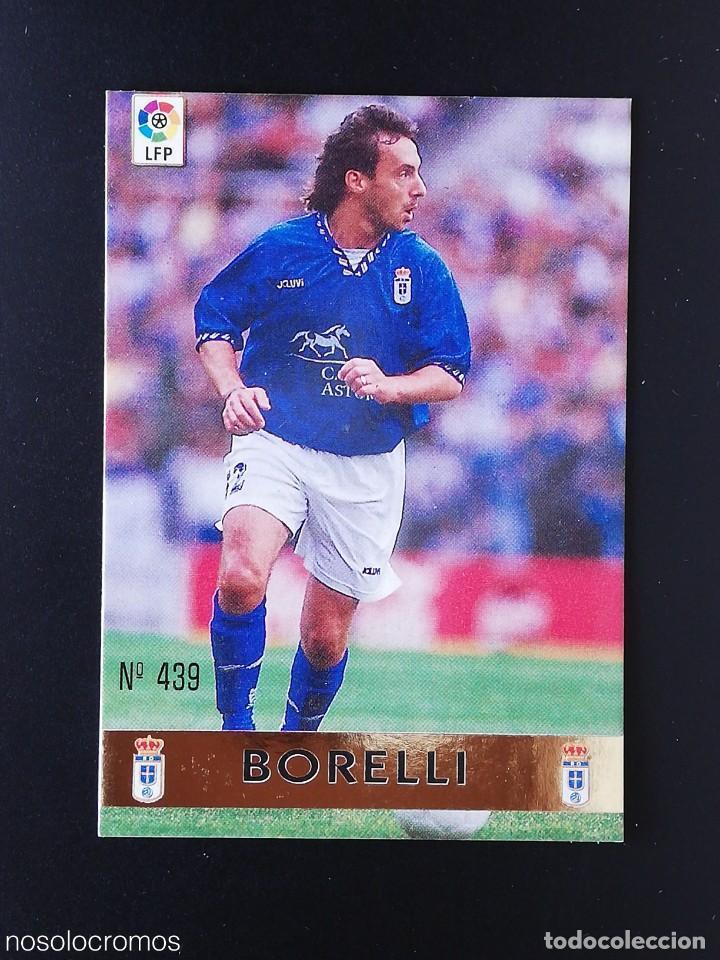 #439 439 BORELLI OVIEDO EL MEJOR 97 98 LAS FICHAS DE LA LIGA MUNDICROMO 1997 1998 (Coleccionismo Deportivo - Álbumes y Cromos de Deportes - Cromos de Fútbol)