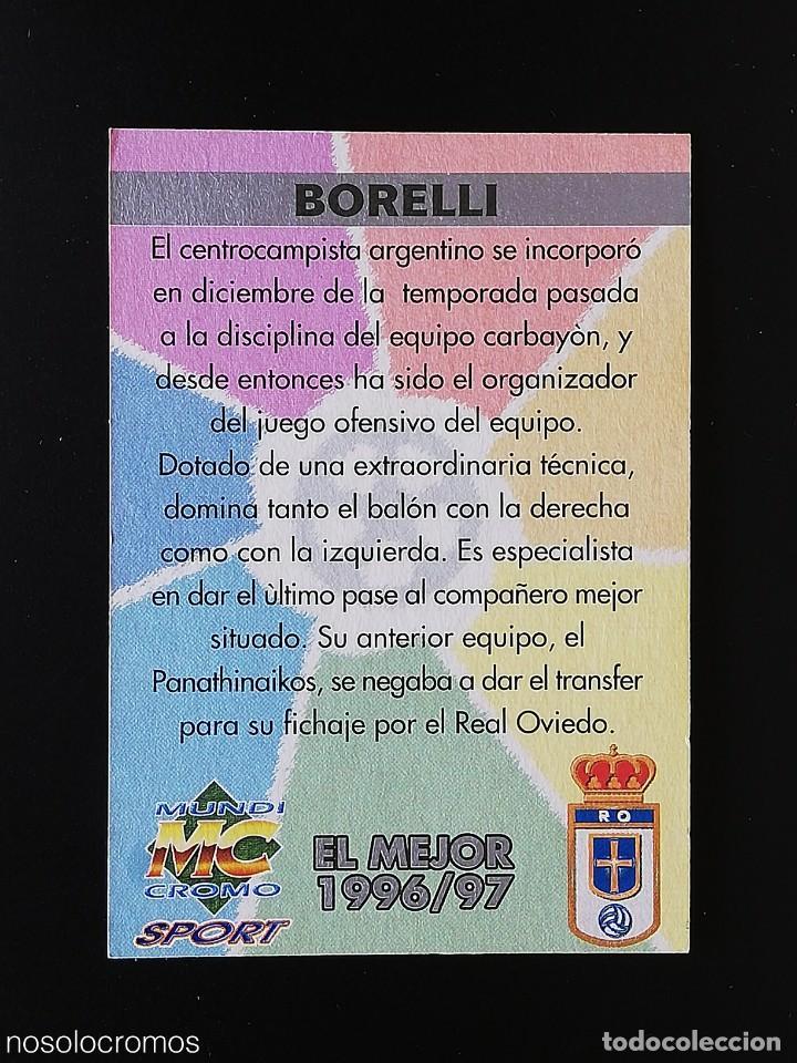 Cromos de Fútbol: #439 439 BORELLI OVIEDO EL MEJOR 97 98 LAS FICHAS DE LA LIGA MUNDICROMO 1997 1998 - Foto 2 - 217961695