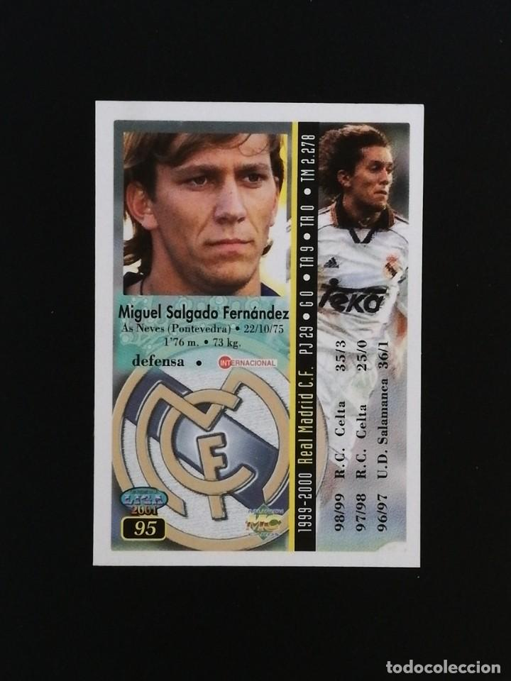 Cromos de Fútbol: #095 95 MICHEL SALGADO REAL MADRID 2001 LAS FICHAS DE LA LIGA MUNDICROMO 01 - Foto 2 - 217961720