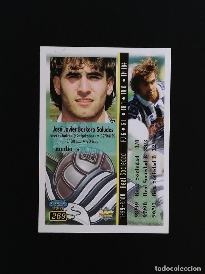 Cromos de Fútbol: #269 269 BARKERO REAL SOCIEDAD 2001 LAS FICHAS DE LA LIGA MUNDICROMO 01 - Foto 2 - 217961773