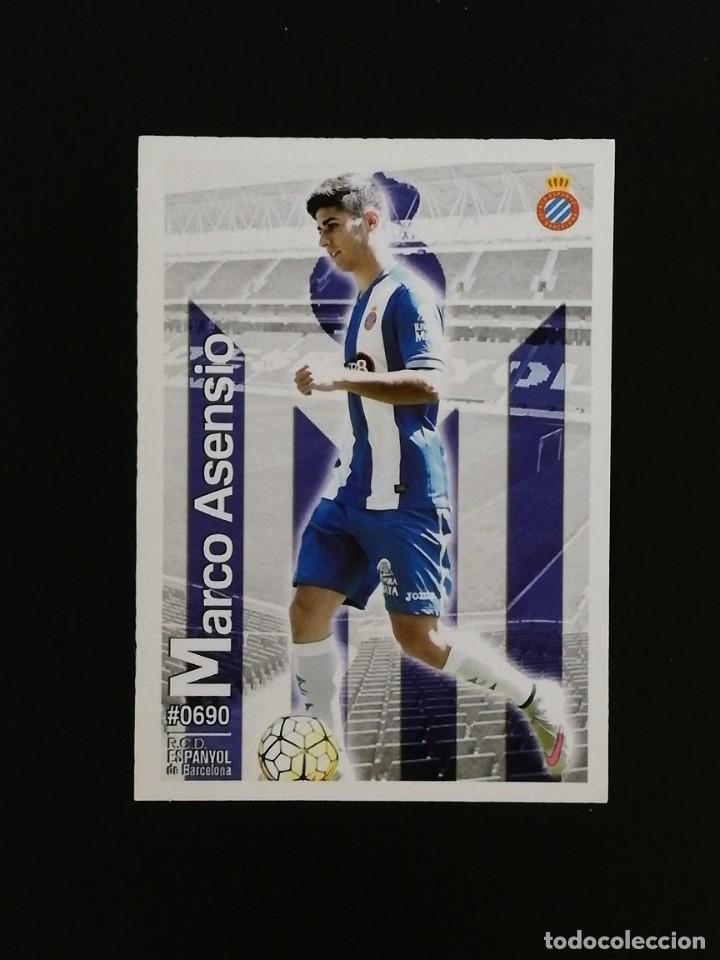 #690 690 MARCO ASENSIO ESPANYOL 2016 LAS FICHAS QUIZ MUNDICROMO 16 (Coleccionismo Deportivo - Álbumes y Cromos de Deportes - Cromos de Fútbol)