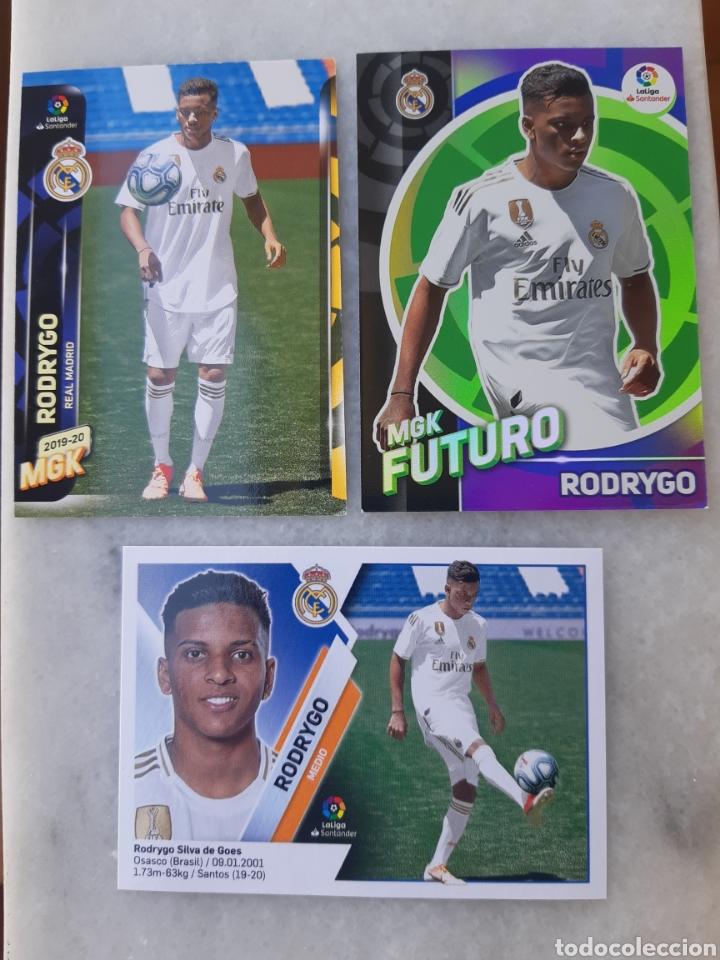 3 ROOKIE CARDS RODRYGO (REAL MADRID) LIGA 19-20 MEGACRACKS- ESTE. NUEVOS (Coleccionismo Deportivo - Álbumes y Cromos de Deportes - Cromos de Fútbol)
