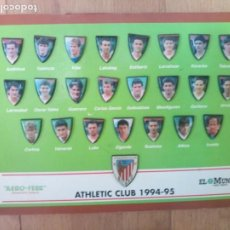 Cromos de Fútbol: LOTE PINS ATHLETIC BILBAO 1994 95 FÚTBOL.. Lote 218141441