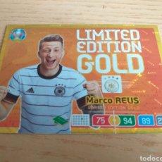 Cromos de Fútbol: CROMO MARCO REUS LIMITED EDITION GOLD ALEMANIA EURO 2020 ADRENALYN PANINI. Lote 218215818