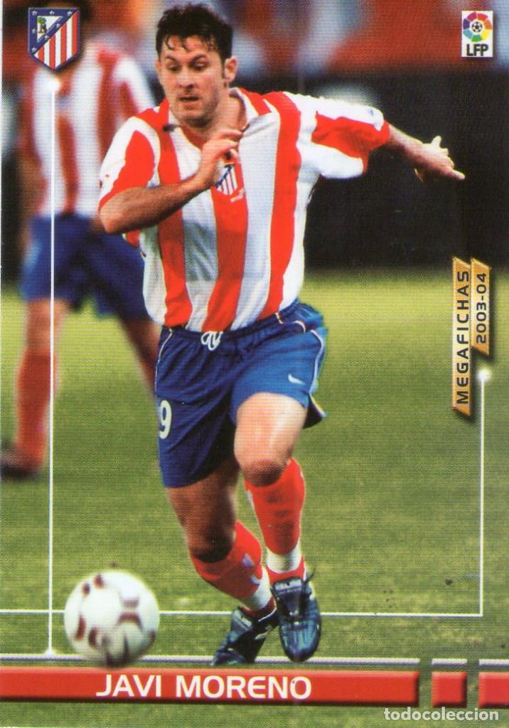 JAVI MORENO (ATLÉTICO DE MADRID) - Nº 53 BIS - NUEVA FICHA - MEGAFICHAS 2003/2004 - PANINI. (Coleccionismo Deportivo - Álbumes y Cromos de Deportes - Cromos de Fútbol)