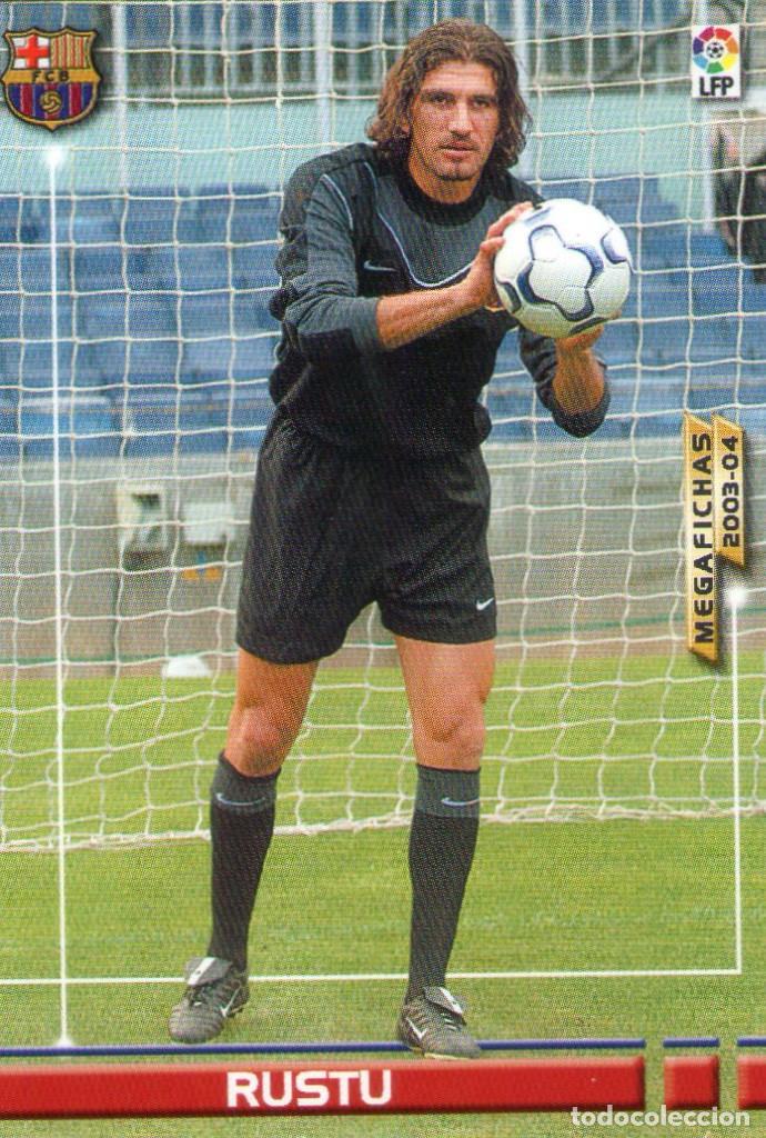 RUSTU (F.C. BARCELONA) - Nº 57 - MEGAFICHAS 2003/2004 - PANINI. (Coleccionismo Deportivo - Álbumes y Cromos de Deportes - Cromos de Fútbol)