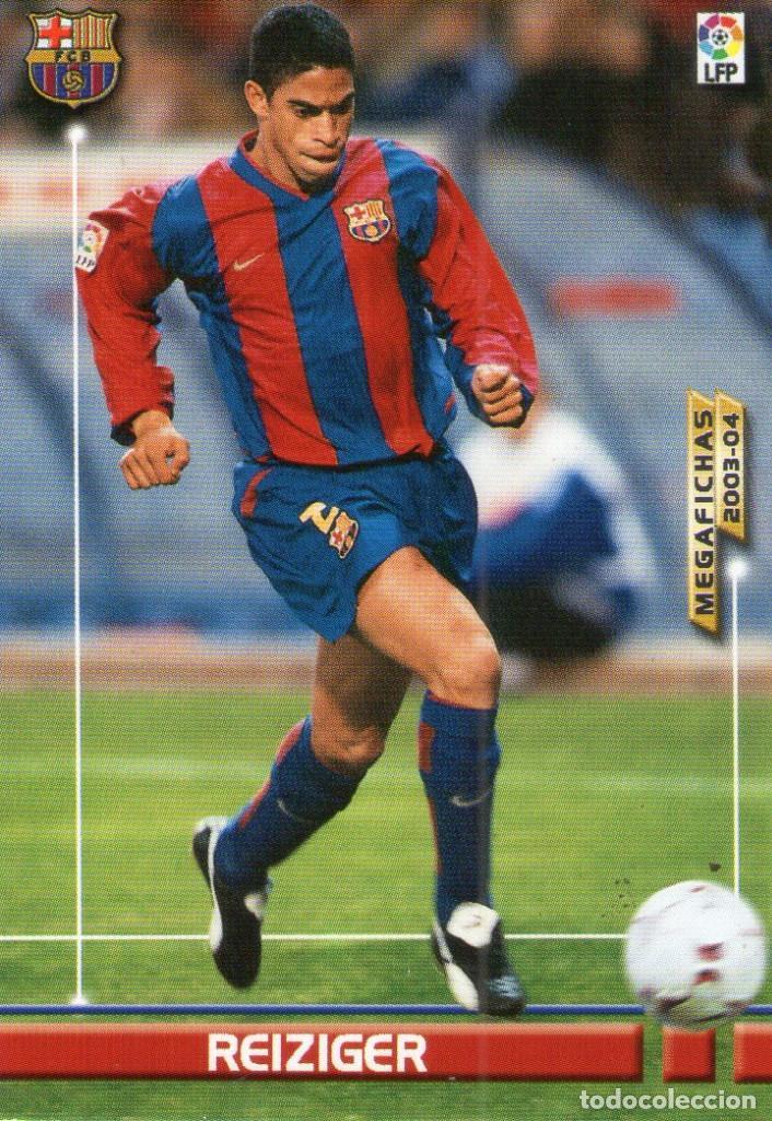 REIZIGER (F.C. BARCELONA) - Nº 61 - MEGAFICHAS 2003/2004 - PANINI. (Coleccionismo Deportivo - Álbumes y Cromos de Deportes - Cromos de Fútbol)