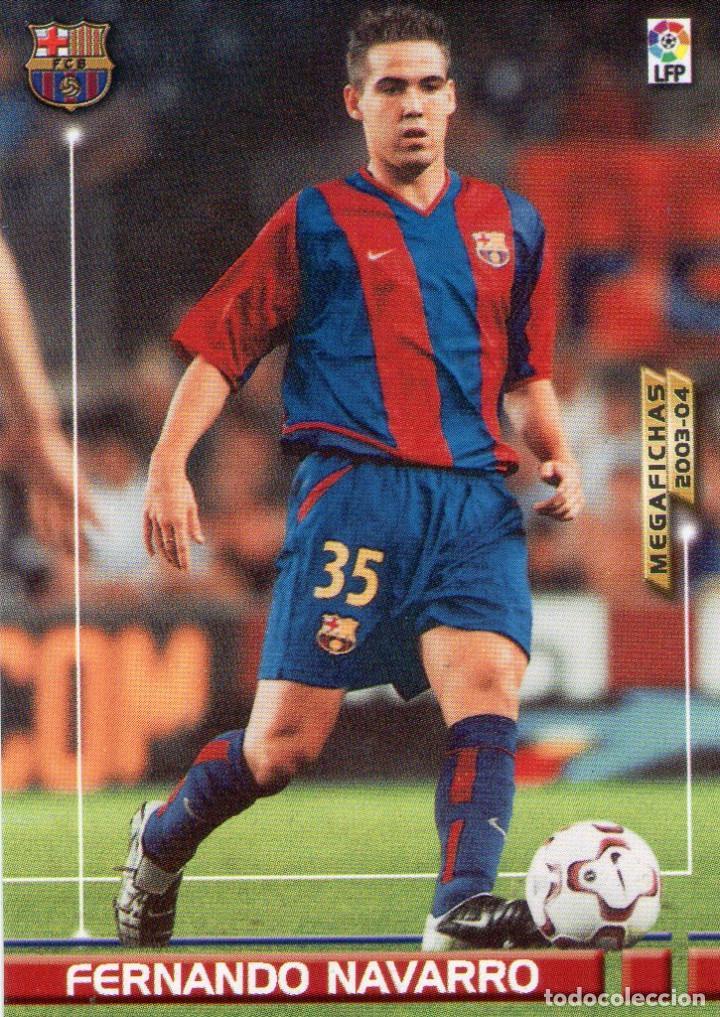 FERNANDO NAVARRO (F.C. BARCELONA) - Nº 62 - MEGAFICHAS 2003/2004 - PANINI. (Coleccionismo Deportivo - Álbumes y Cromos de Deportes - Cromos de Fútbol)
