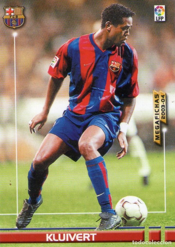 KLUIVERT (F.C. BARCELONA) - Nº 71 - MEGAFICHAS 2003/2004 - PANINI. (Coleccionismo Deportivo - Álbumes y Cromos de Deportes - Cromos de Fútbol)