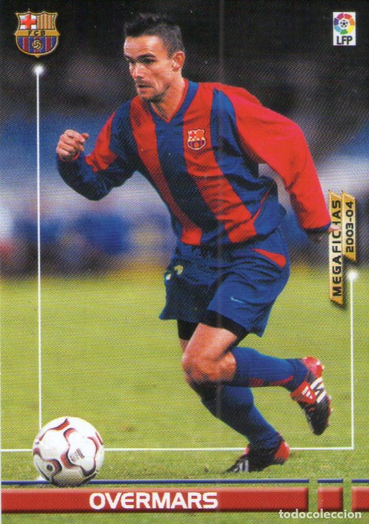 OVERMARS (F.C. BARCELONA) - Nº 72 - MEGAFICHAS 2003/2004 - PANINI. (Coleccionismo Deportivo - Álbumes y Cromos de Deportes - Cromos de Fútbol)