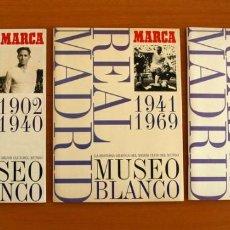 Cromos de Fútbol: ÁLBUM REAL MADRID - MUSEO BLANCO 1902-1999, MARCA - COLECCIÓN COMPLETA, 3 ÁLBUMES COMPLETOS. Lote 218413797