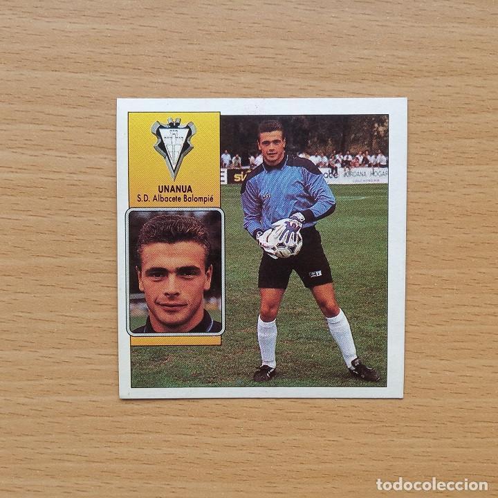 FICHAJE 32 UNANUA SD ALBACETE BALOMPIE EDICIONES ESTE 1992 1993 LIGA 92 93 (Coleccionismo Deportivo - Álbumes y Cromos de Deportes - Cromos de Fútbol)