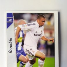 Cromos de Fútbol: MUNDICROMO LAS FICHAS DE LA LIGA 2007 RONALDO N° 50 REAL MADRID. Lote 218550582