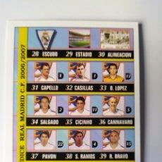 Cromos de Fútbol: MUNDICROMO LAS FICHAS DE LA LIGA 2007 INDICE N° 51 REAL MADRID. Lote 218550615