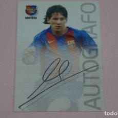 Football Stickers: CROMO CARD DE FUTBOL MESSI DEL F.C.BARCELONA ROOKIE NOVATO MEGACRACKS 2004-2005/04-05. Lote 218582670