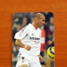 Cromos de Fútbol: REAL MADRID - ZIDANE, Nº 547 - LIGA 2005-2006, 05-06 - MUNDICROMO - MUNDI CROMO. Lote 218795405