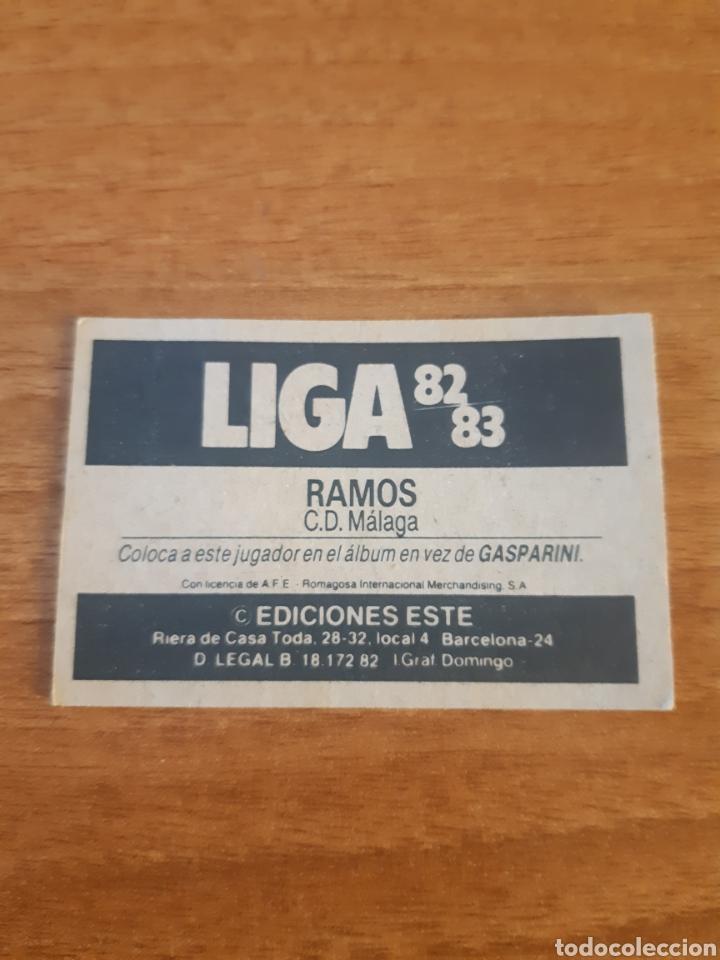 Cromos de Fútbol: Coloca Ramos (Málaga) liga 82-83 ESTE. Nunca pegado - Foto 2 - 218829692