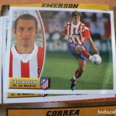 Cromos de Fútbol: CROMO LIGA ESTE 2003 2004 03 04 RECORTADO JAVI MORENO ATLETICO MADRID COLOCA. Lote 218830481
