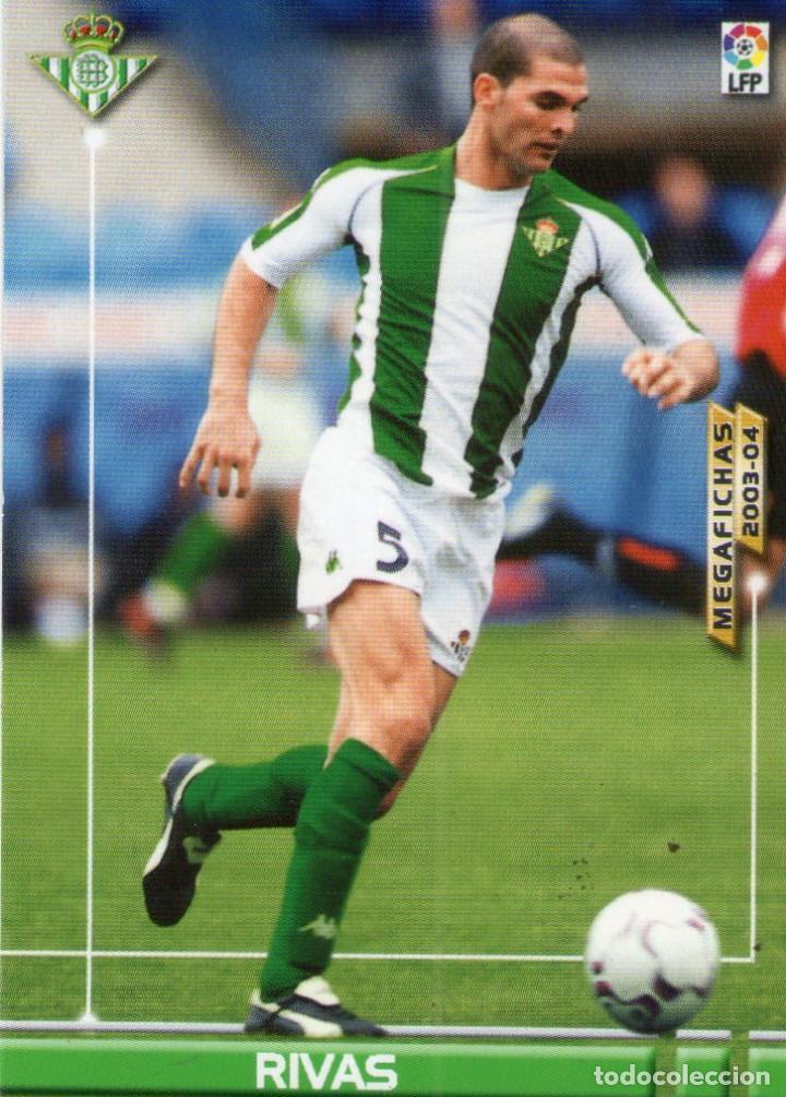 RIVAS (REAL BETIS) - Nº 78 - MEGAFICHAS 2003/2004 - PANINI. (Coleccionismo Deportivo - Álbumes y Cromos de Deportes - Cromos de Fútbol)