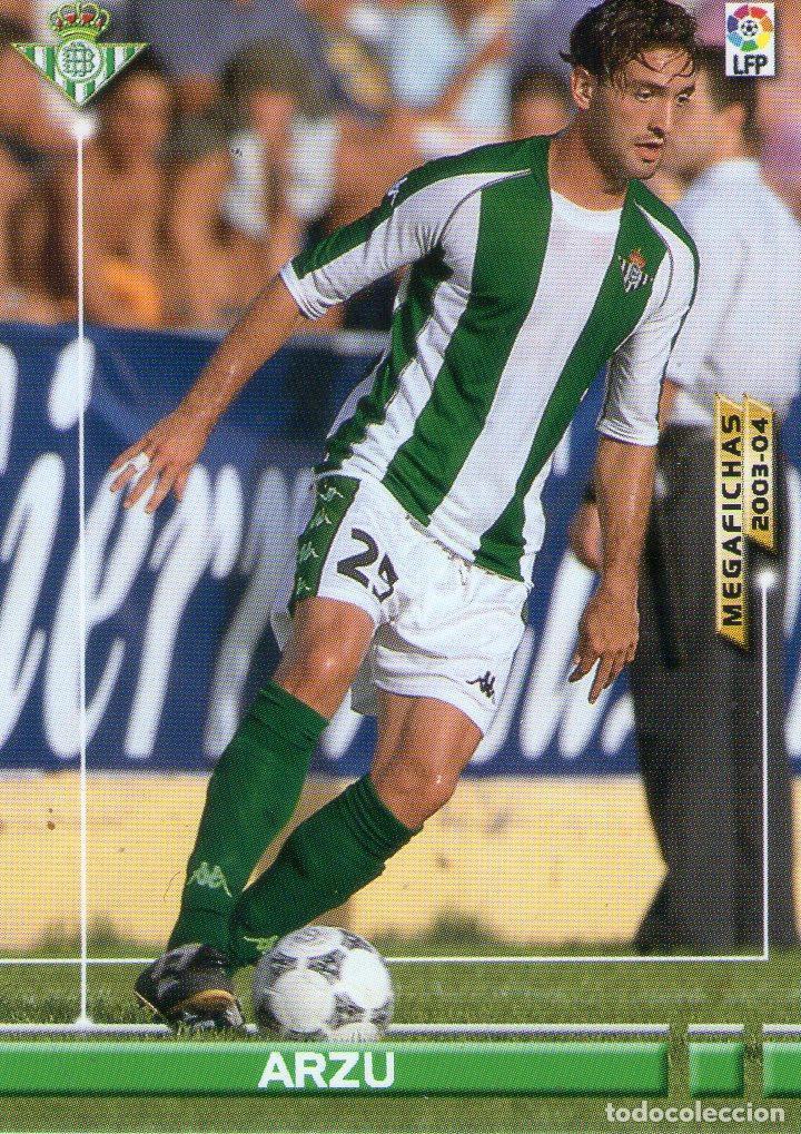 ARZU (REAL BETIS) - Nº 80 - MEGAFICHAS 2003/2004 - PANINI. (Coleccionismo Deportivo - Álbumes y Cromos de Deportes - Cromos de Fútbol)